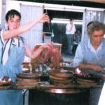 Pulpeiros, Secundino Glez. Pereira e Sara Glez. Hermida, Festa do Pulpo