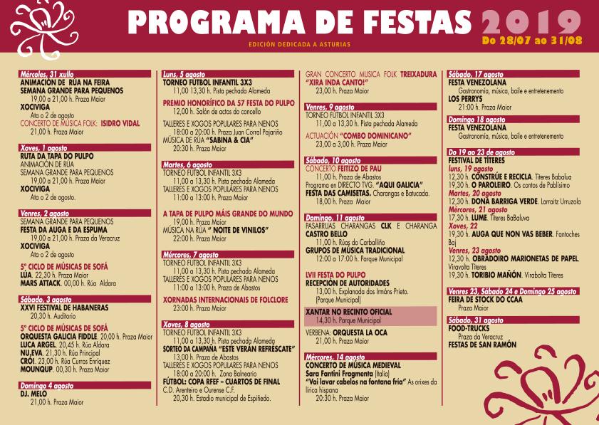 Programa de Festas, Festa do Pulpo LVII