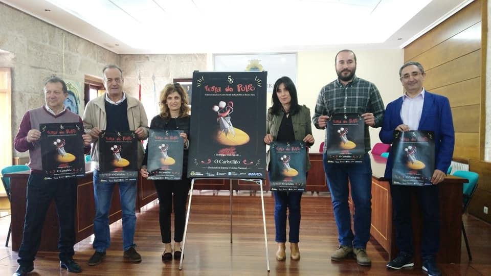 Presentación Cartel Festa do Pulpo dedicado a Argentina