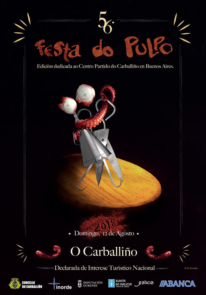 Cartel Festa do Pulpo dedicado a Argentina